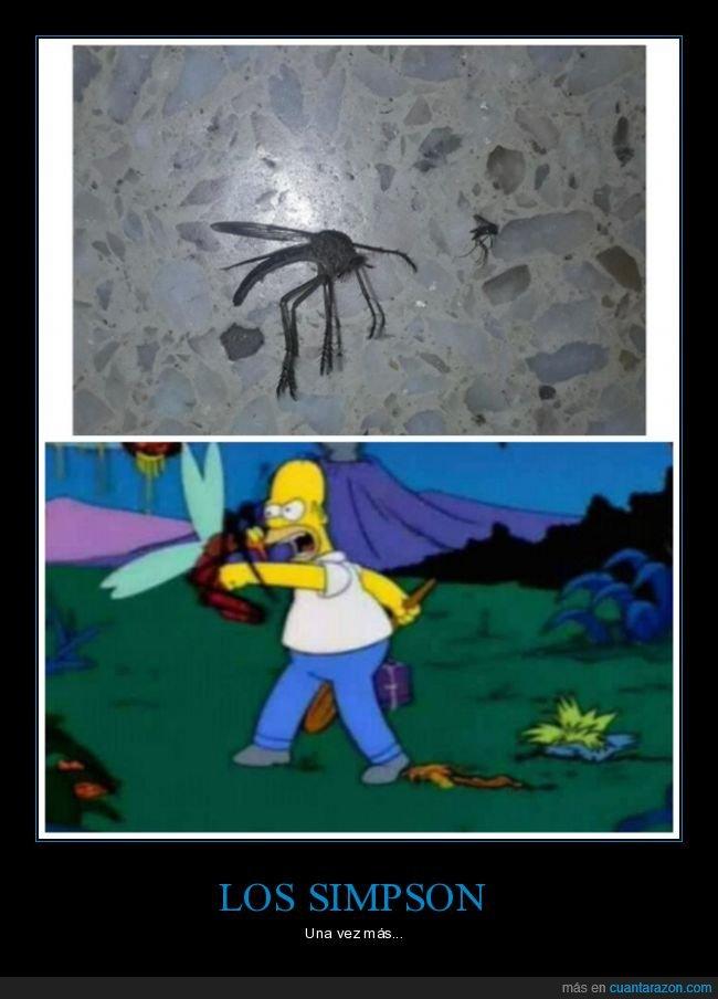 gigante,mosquito,simpsons