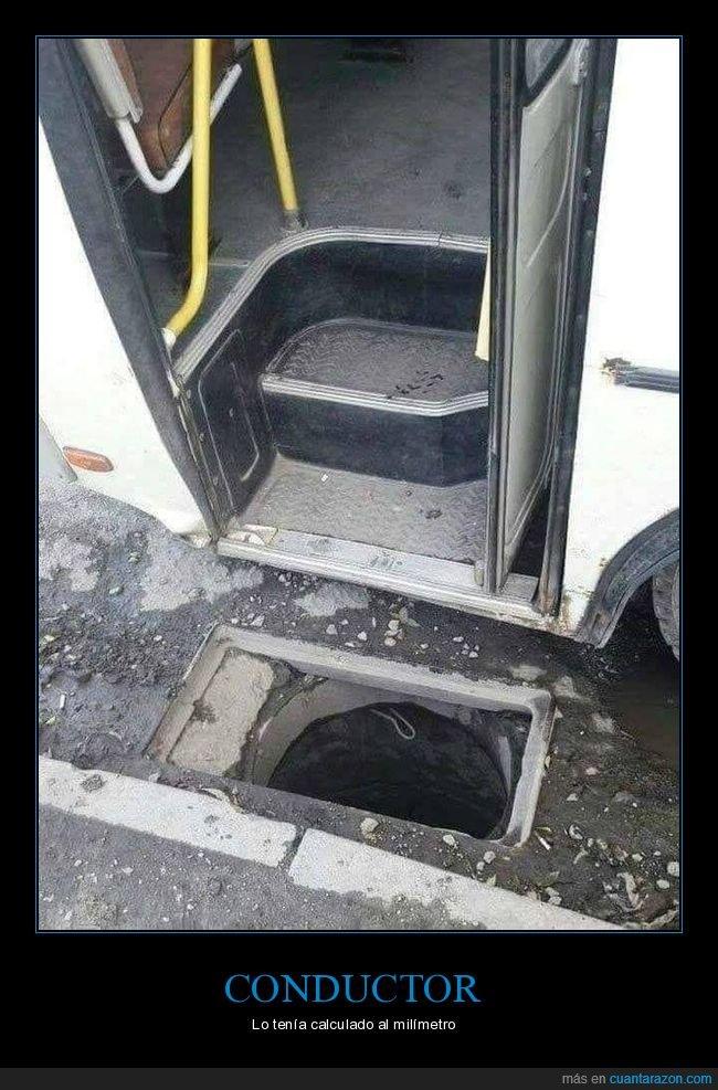 agujero,autobús,fail