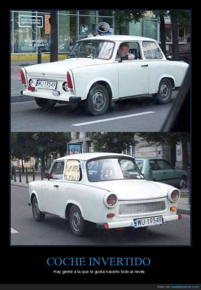 al revés,coche,invertido