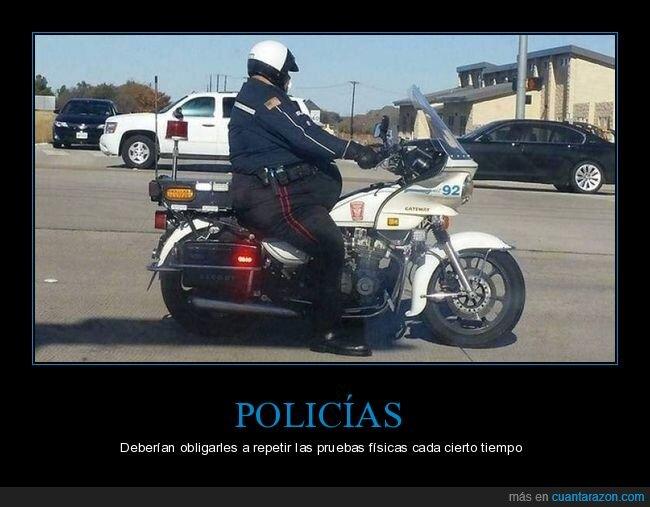gordo,moto,policía