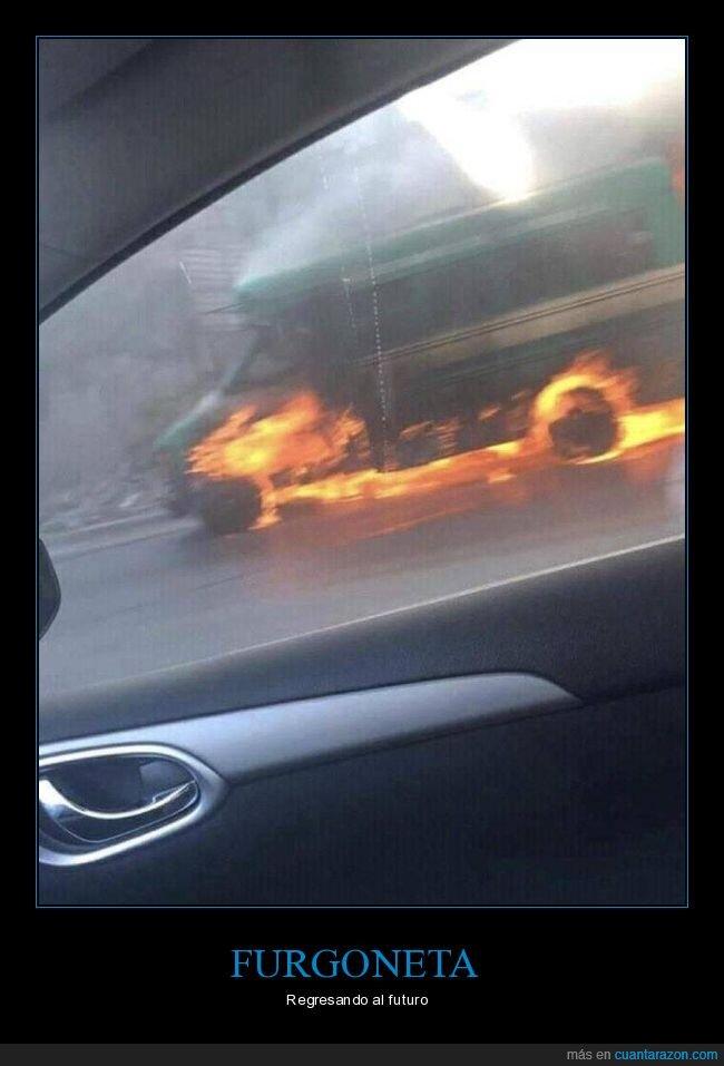ardiendo,fuego,furgoneta,wtf