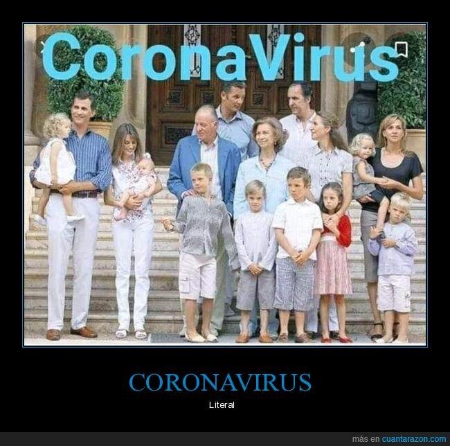 coronavirus,familia real