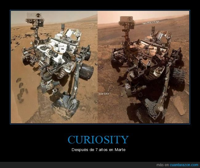 7 años,curiosity,marte