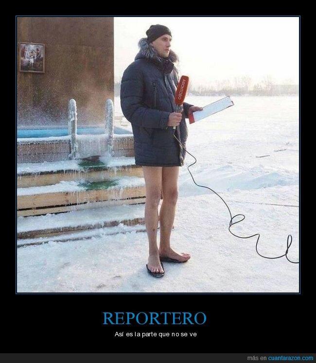 frío,nieve,reportero,wtf