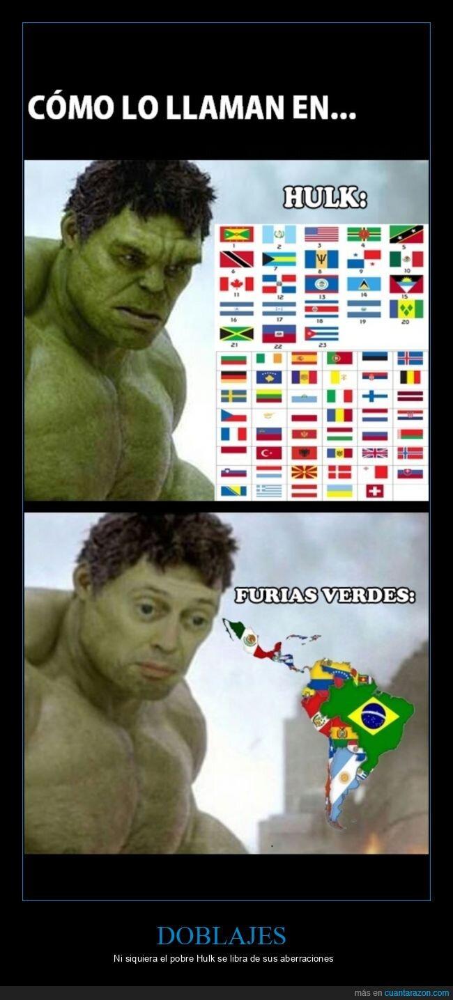 doblaje,furias verdes,hulk