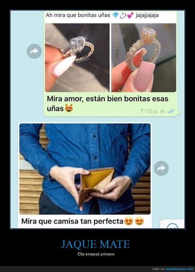 amor,anillo,cartera,dinero,uñas