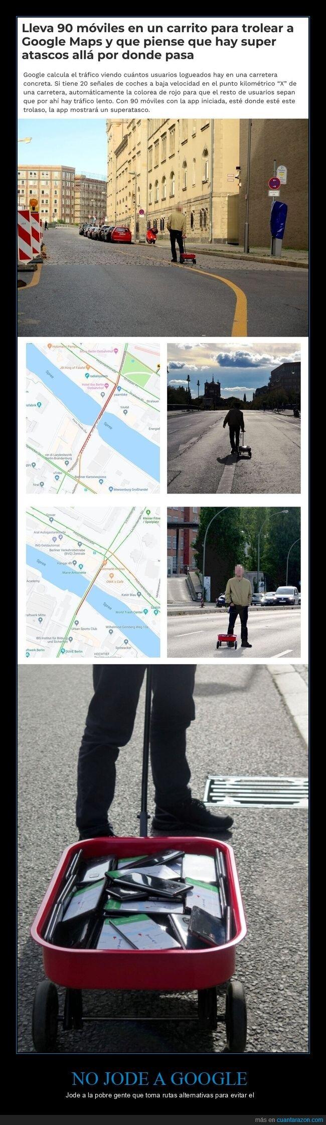 atascos,carrito,google,google maps,móviles