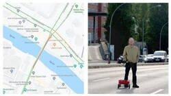 Enlace a Lleva 90 móviles en un carrito para trolear a Google Maps y que piense que hay super atascos allá por donde pasa