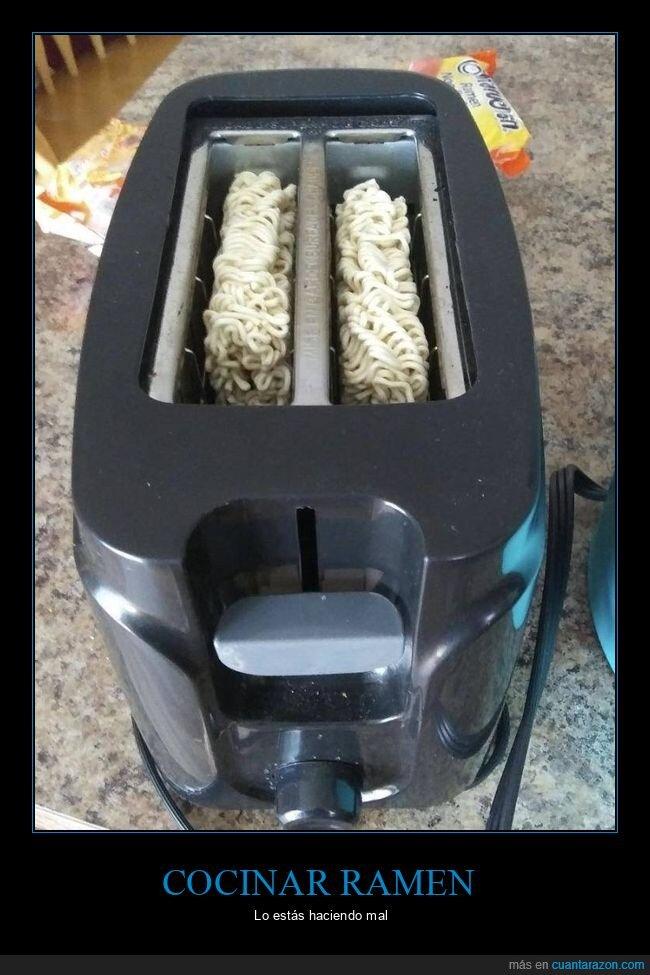 fail,ramen,tostadora