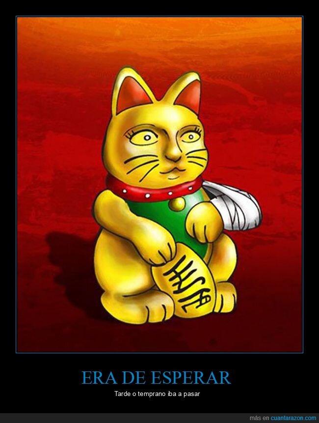 gato,oro,suerte,tendinitis