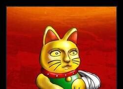 Enlace a El gato de la suerte ha pillado una tendinitis de las fuertes