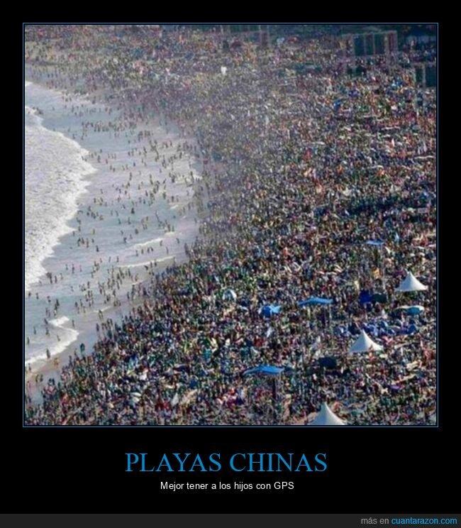 china,GPS,playa,poblada
