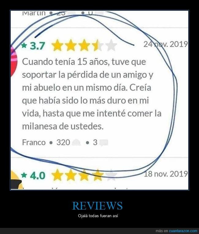 milanesa,review