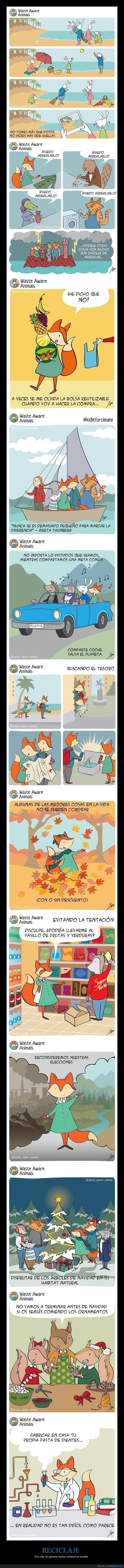 cambio climático,comics,reciclaje