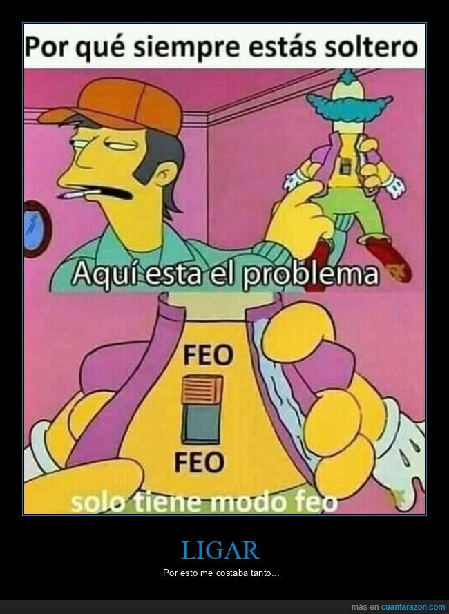 feo,simpsons,soltero