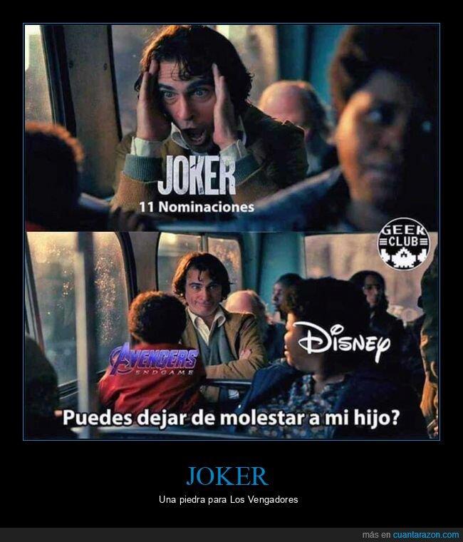 joker,los vengadores,nominaciones,oscars