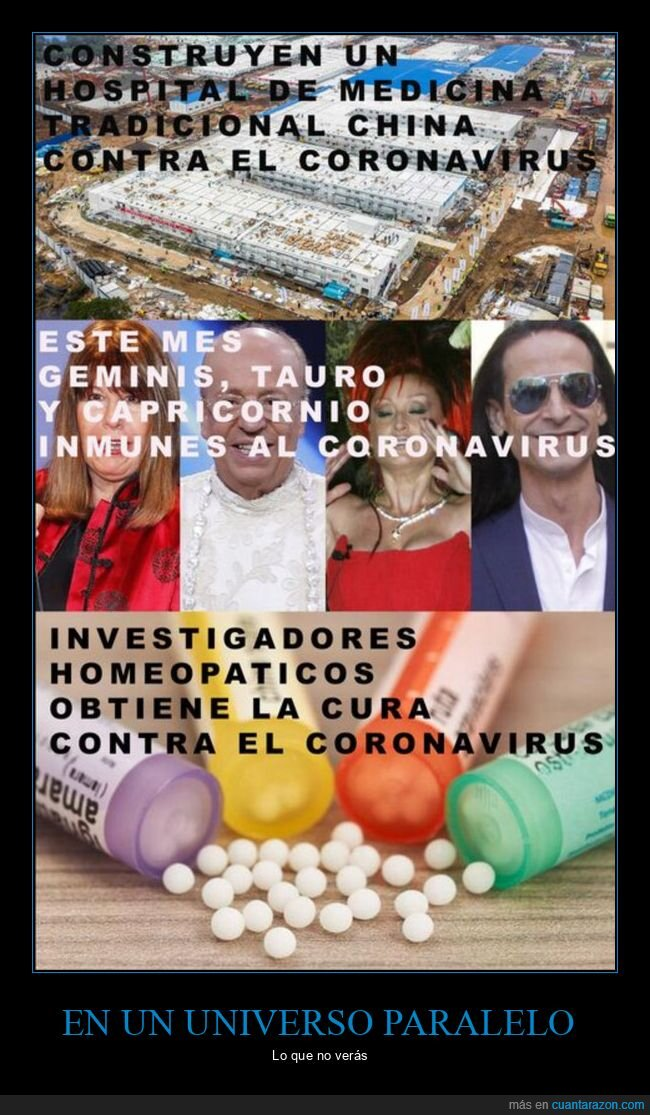 coronavirus,homeopatía,universo paralelo,videntes