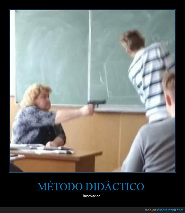 clase,pistola,profesora,wtf
