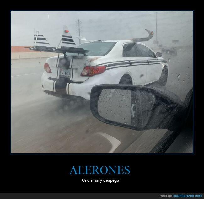 alerón,alerones,coche,wtf