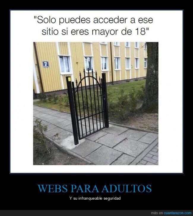 acceder mayor de edad,seguridad