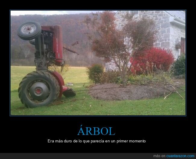 árbol,fails,tractor