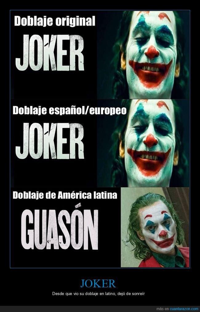 doblaje,guasón,joker,latino