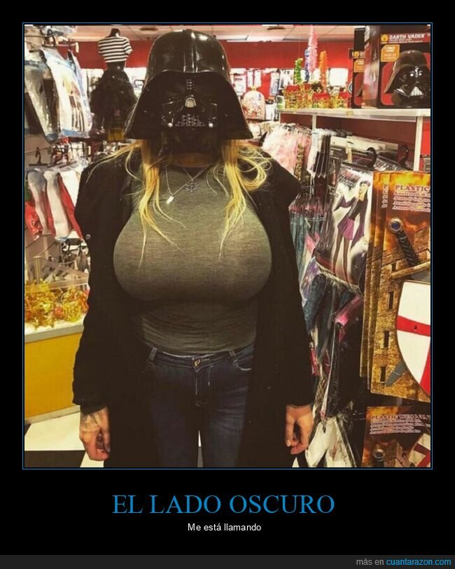 casco,chica,darth vader,star wars