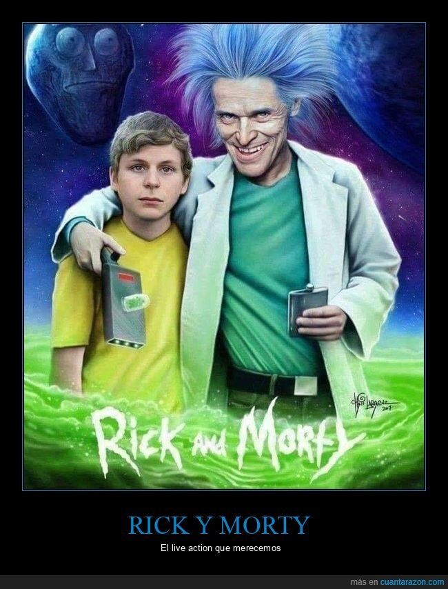 live action,michael cera,rick y morty,willem dafoe