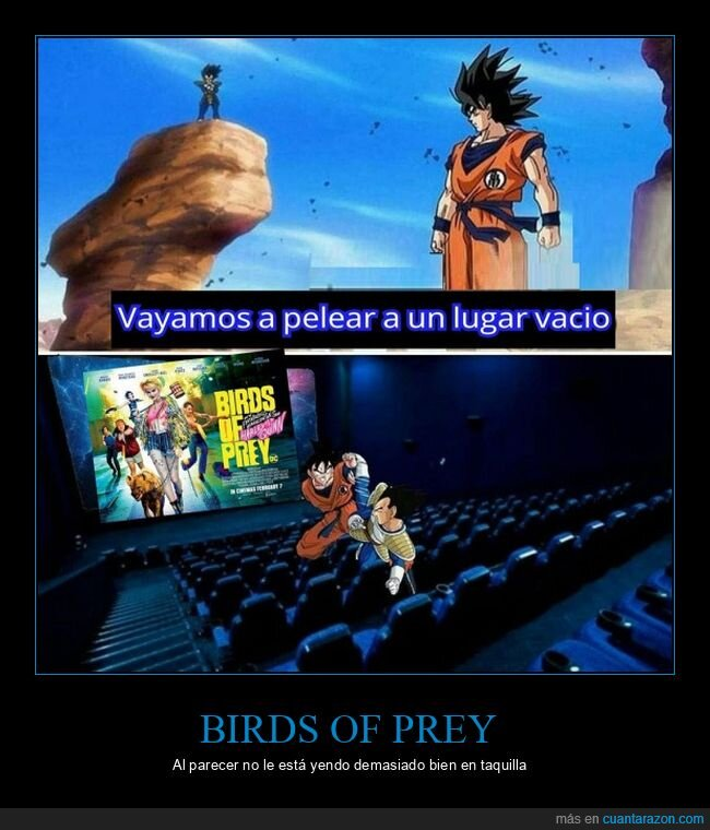 birds of prey,dragon ball,taquilla