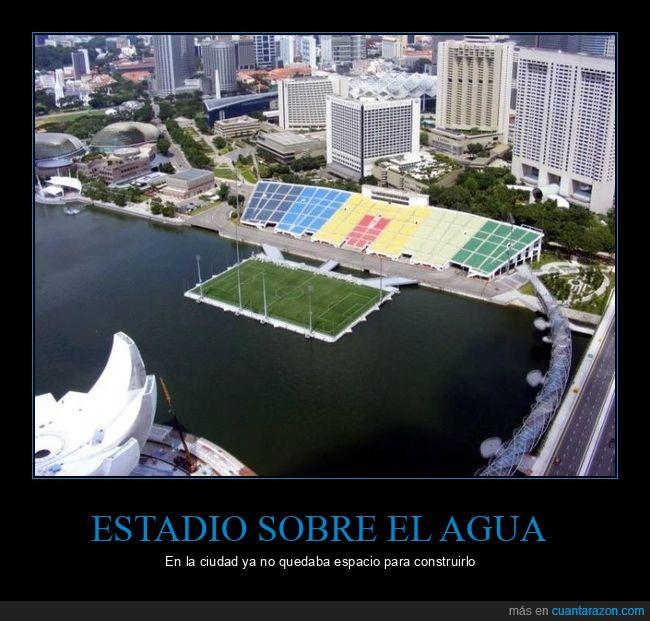 agua,ciudad,espacio,estadio