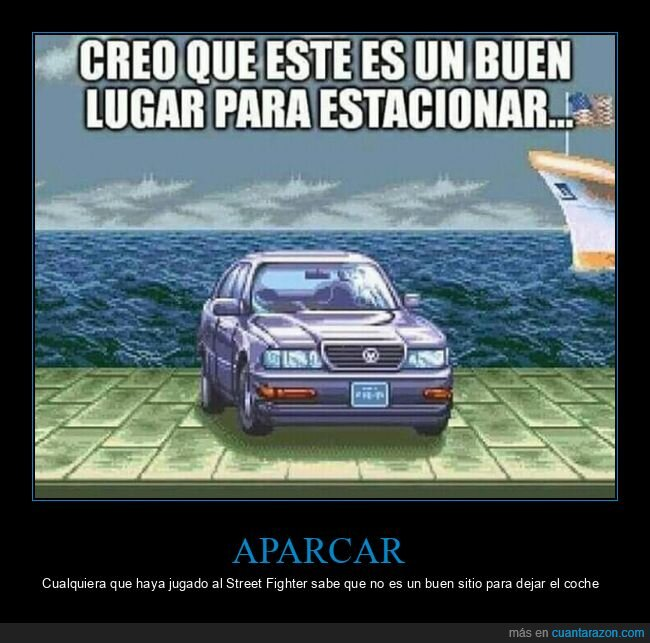 aparcar,coche,street fighter