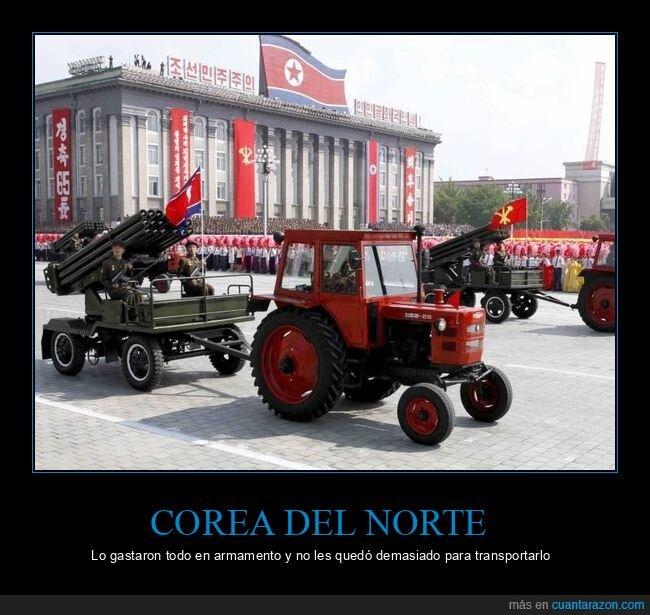 armamento,corea del norte,desfile,tractor