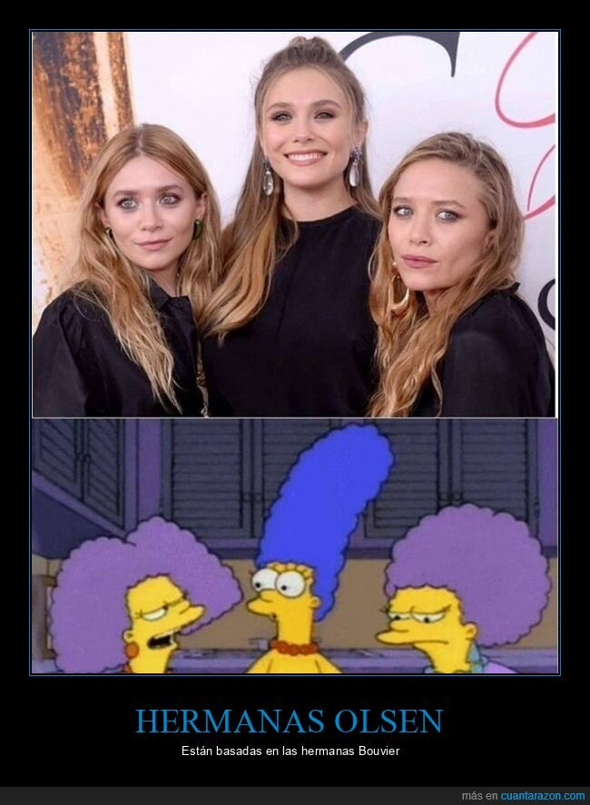 hermanas olsen,parecidos,patty y selma,simpsons