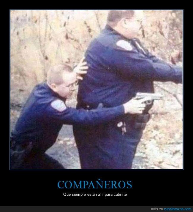 compañero,cubrir,policía