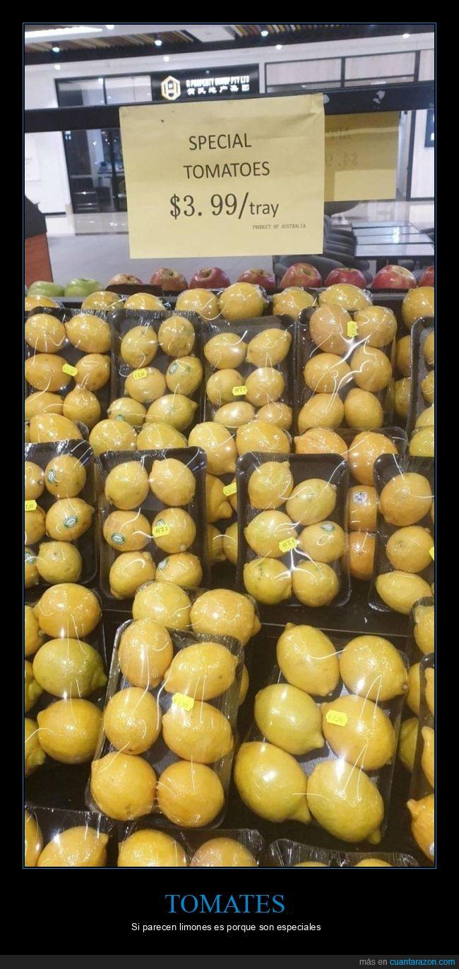especiales,fails,limones,supermercado,tomates