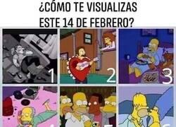 Enlace a San Valentín según Los Simpson