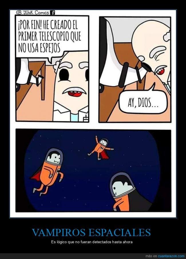 espacio,espejos,telescopio,vampiros