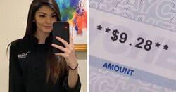 Enlace a Esta madre comparte en TikTok su cheque de 9,28$ tras trabajar 70 horas de camarera