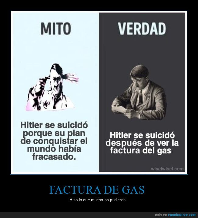 factura del gas,hitler,suicidio
