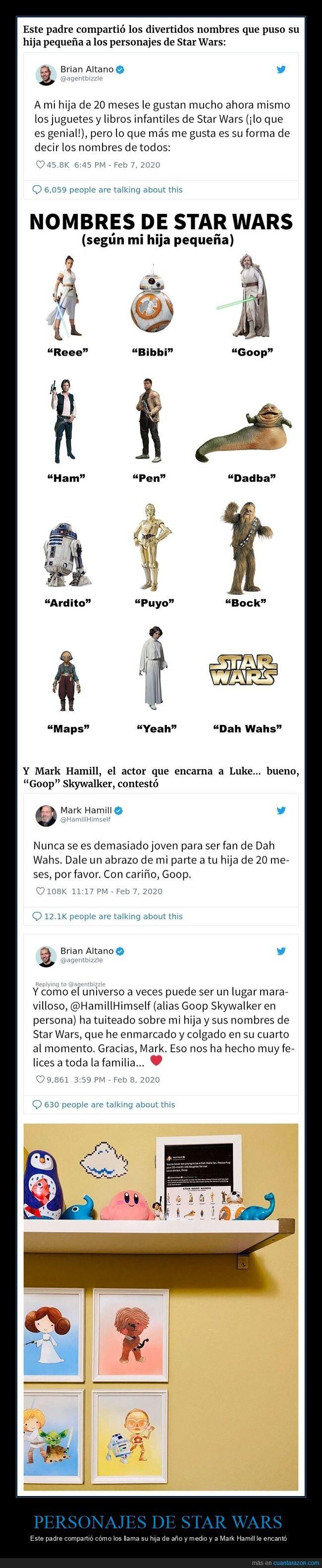 mark hamill,niña.padre,nombres,personajes,star wars