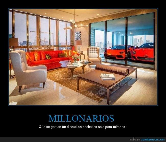 coches,millonario,piso