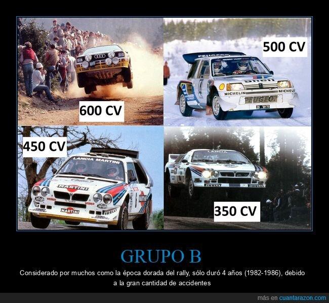 años 80,audi quattro,grupo b,lancia 037,lancia Delta S4,peugeot 205 turbo 16,potencia,rally