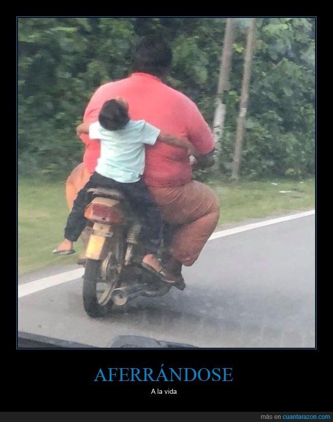 brazos,moto,niño,wtf