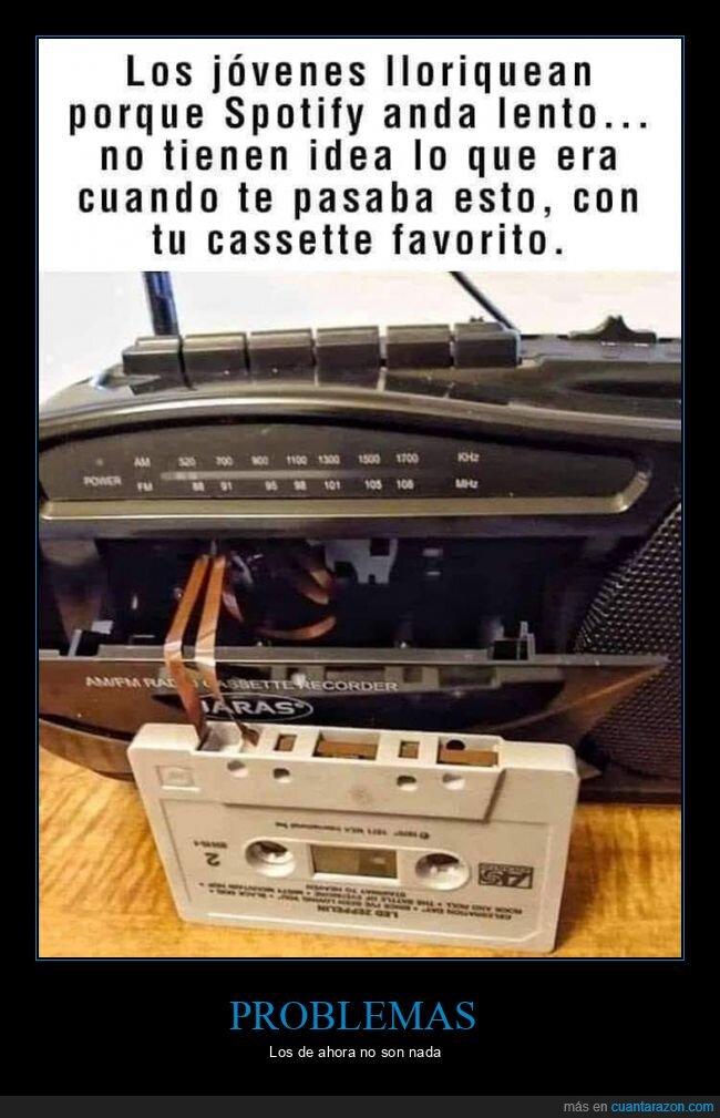 cassette,problemasspotify