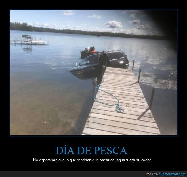 agua,coche,fails,lago,pesca