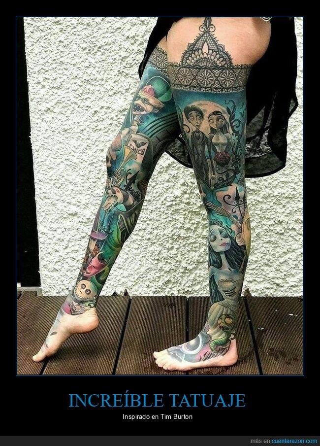 piernas,tatuaje,tim burton