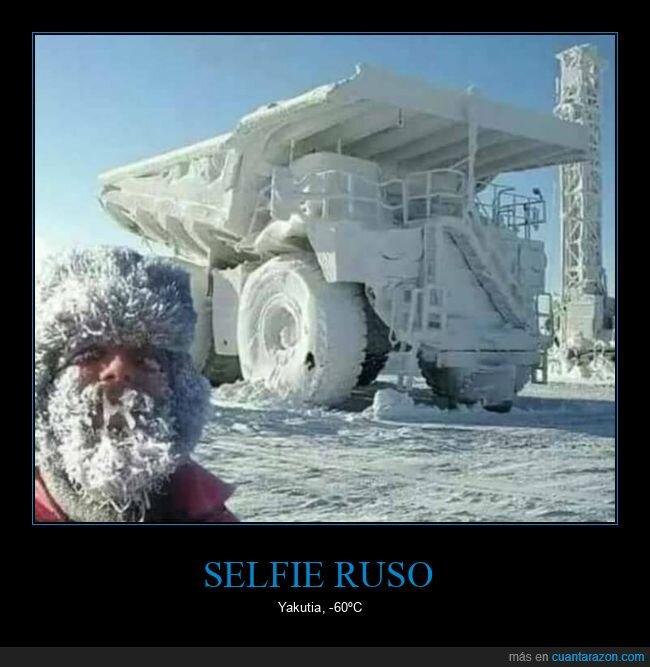 frío,rusos,selfie,yakutia