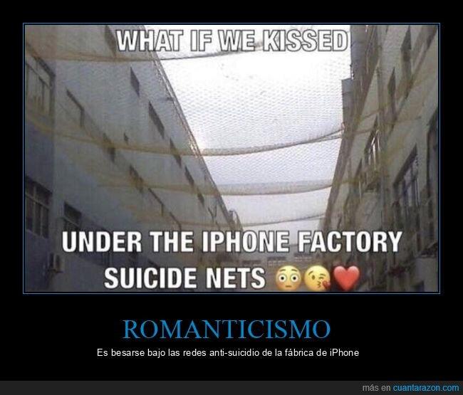 anti suicidio,besarse,fábrica,iphone,redes