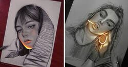 Enlace a Este artista mexicano consigue que sus dibujos reluzcan con una técnica única, y el resultado es alucinante