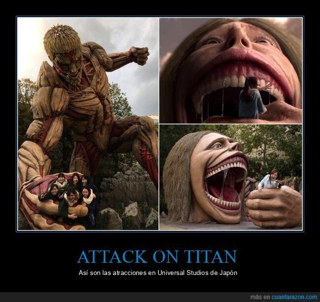 atracciones,attack on titan,japón,universal studios